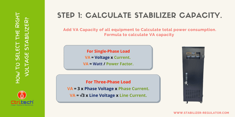 How to calculate voltage stabilizer rating?
