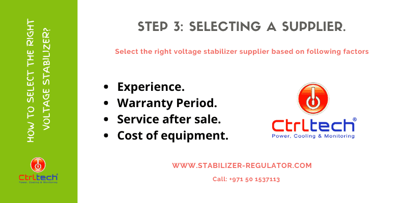 How to select voltage stabilizer supplier?