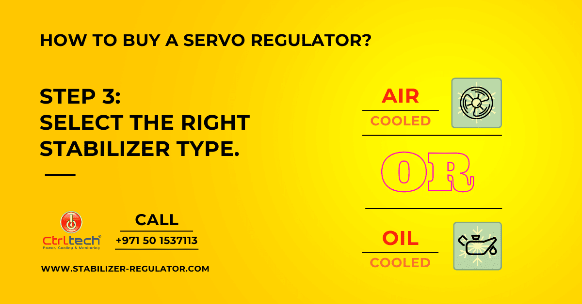 Select the right type of regulator.