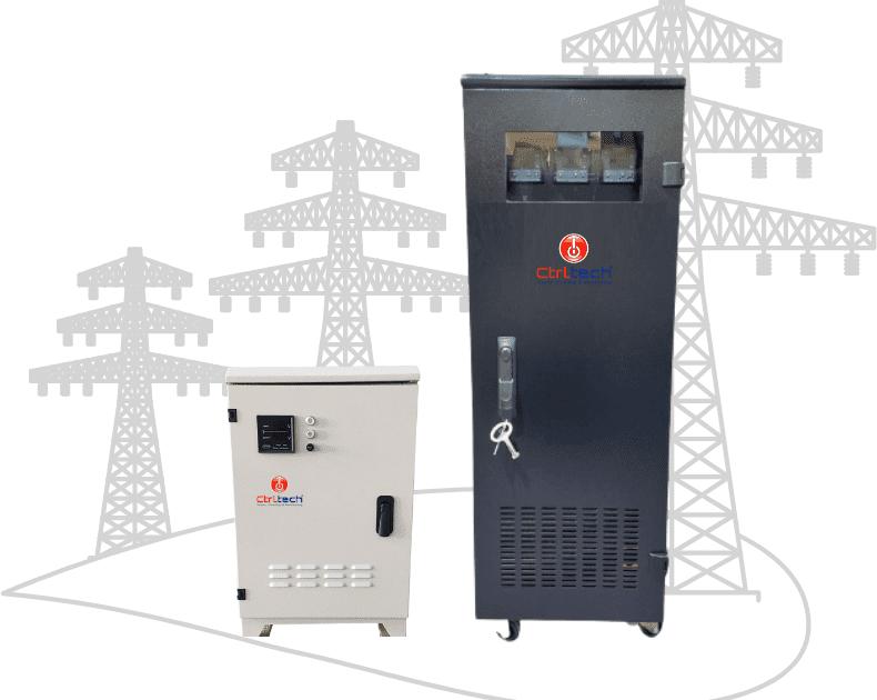 Three phase voltage stabilizer and regulator.
