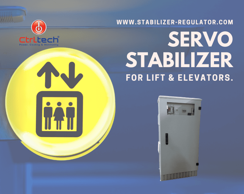 Servo stabilizer for lifts and elevators.