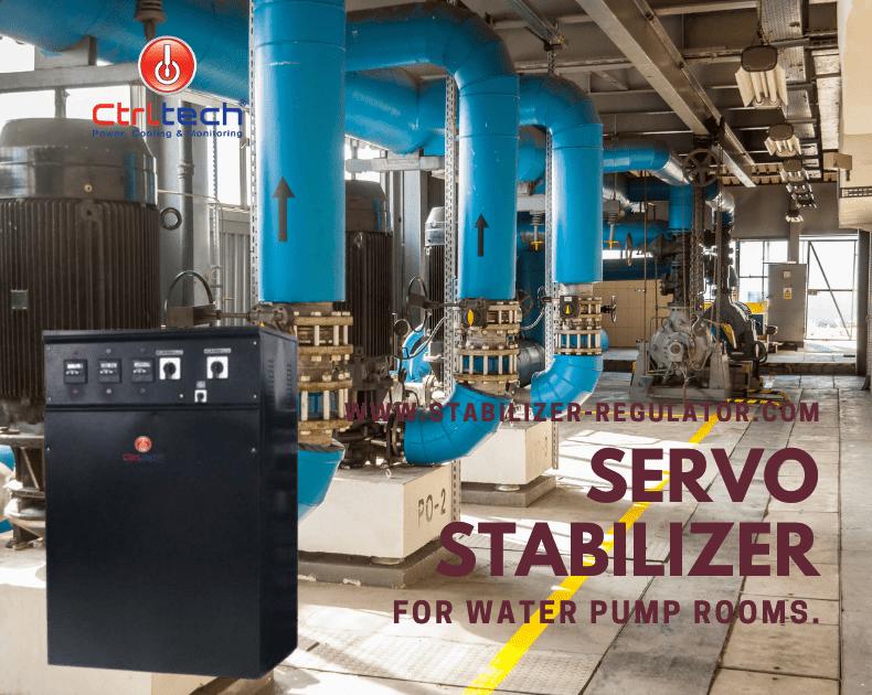 Voltage regulator for water pump rooms.