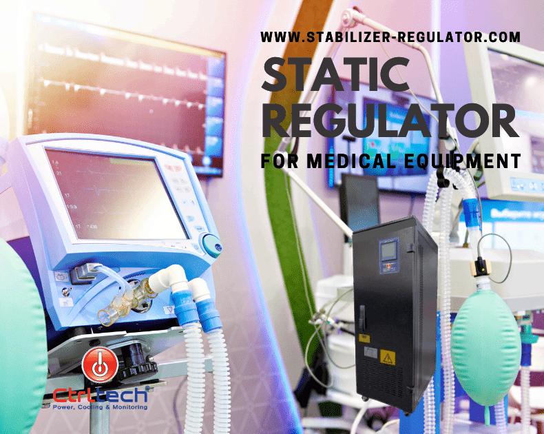 Voltage stabilizer for hospital medical equipment